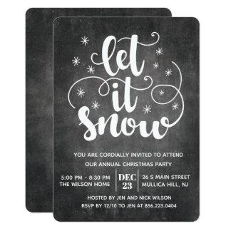 Let it Snow Modern Typography Winter Invitation