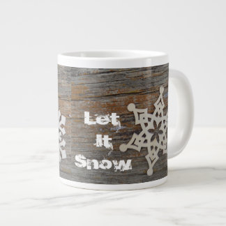 Let it Snow Mug with snowflake image