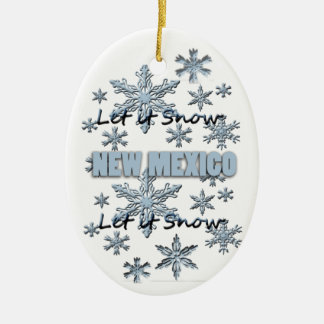 Let it Snow New Mexico  Christmas Ornament