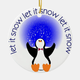 Let It Snow Penguin Ornament