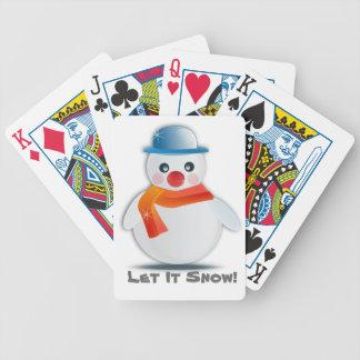 Let it snow poker deck