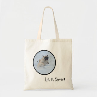 Let It Snow! Pug Tote bag