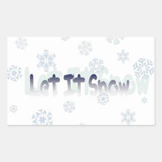 Let It Snow Rectangular Sticker