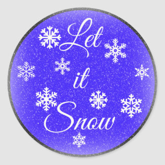 Let it Snow Round Sticker