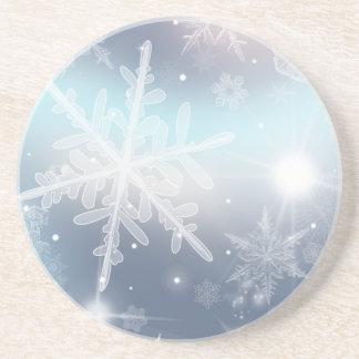 Let It Snow! Sandstone Drink Coaster