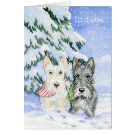 Let It Snow Scotties Card