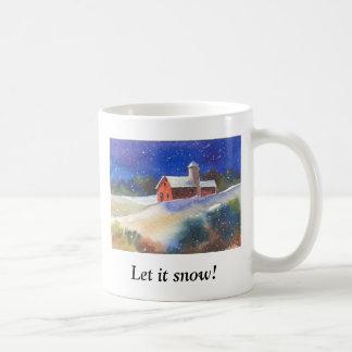 Let it snow!  Silent Night Farm Coffee Mugs
