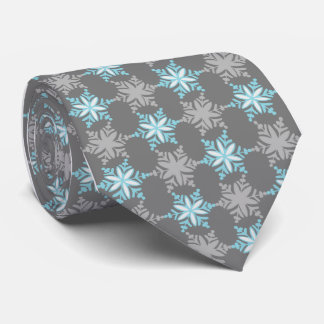 Let It Snow Snowflake Gray Single-Sided Tie