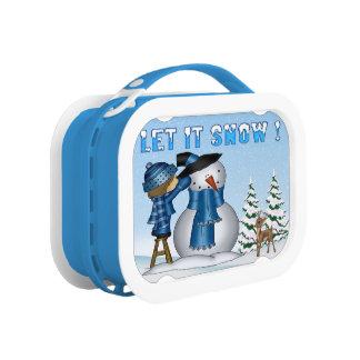 Let It Snow Snowman Lunch box