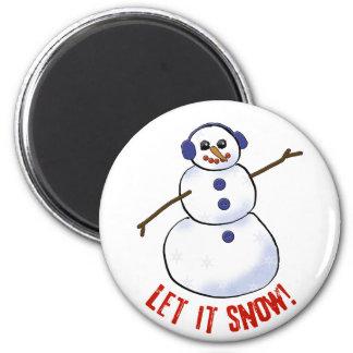 Let it snow! Snowman Refrigerator Magnet