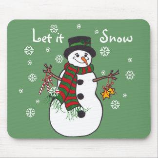 Let it Snow - Snowman Mousepad