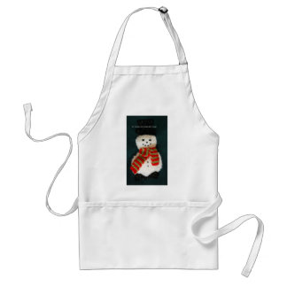 let it snow standard apron