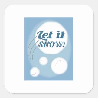 Let it Snow Square Sticker