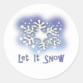 Let It Snow Classic Round Sticker