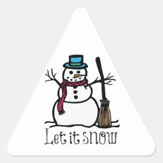 Let It Snow Triangle Sticker