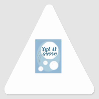 Let it Snow Triangle Stickers