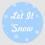Let It Snow Stickers