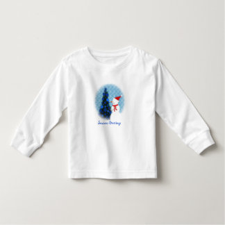 Let it Snow Toddler Long Sleeve T Shirts