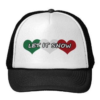 Let It Snow Triple Heart Cap