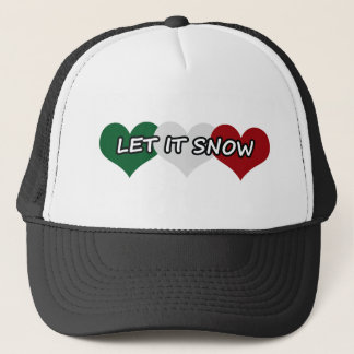 Let It Snow Triple Heart Trucker Hat