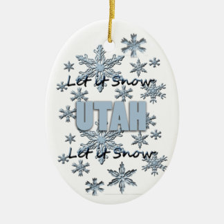 Let it Snow Utah Christmas Ornament