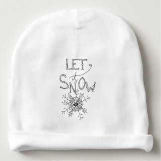 Let It Snow - Winter Christmas | Baby Beanie
