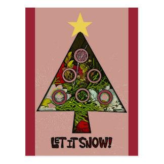Let It Snow winter holiday season postcard/invite Postcard