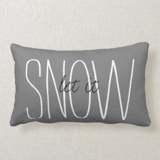 'Let It Snow' Winter Home Decor Throw Pillow