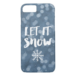 Let It Snow | Winter Night Bokeh Snowflake iPhone 7 Case