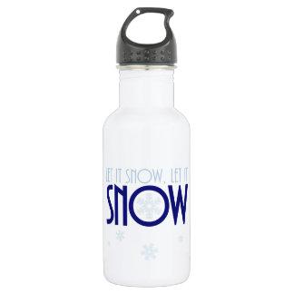 Let It Snow Winter Snowflake 532 Ml Water Bottle