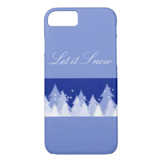 Let it Snow Winter Trees iPhone 7 Case