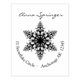 Let it snow - with a decorative snowflake rubber stamp