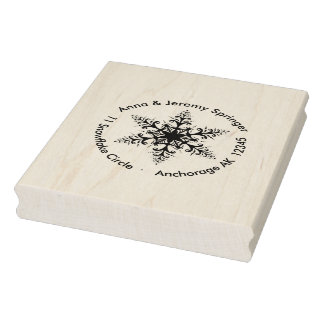 Let it snow - with snowflake stamps! rubber stamp