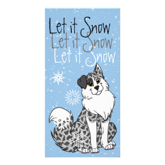 Let it Snow - Xmas Cards Customised Photo Card