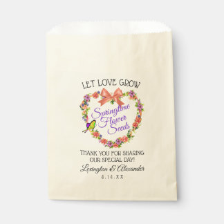 Let Love Grow Flower Seed Bag | Springtime Wedding