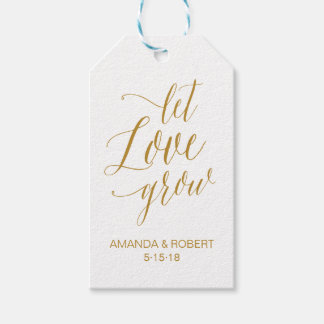 Let Love Grow Wedding Favor Tag