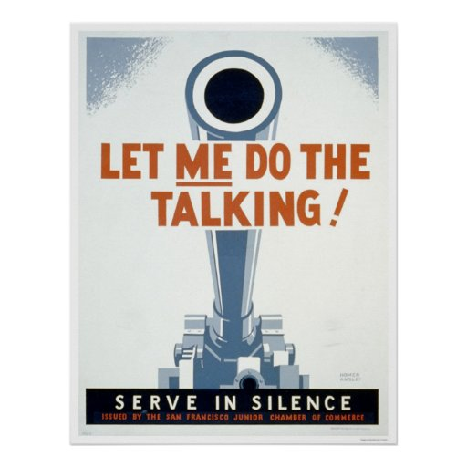 Let me do the Talking! Serve in Silence - WPA Print