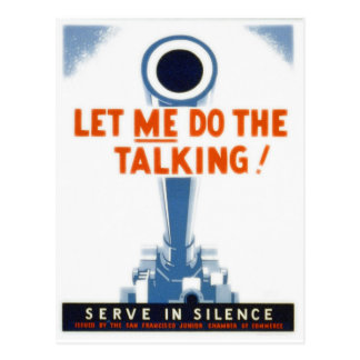 Let Me Do The Talking WWII Poster Post Card