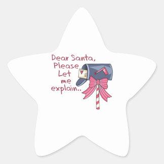 Let Me Explain Star Sticker