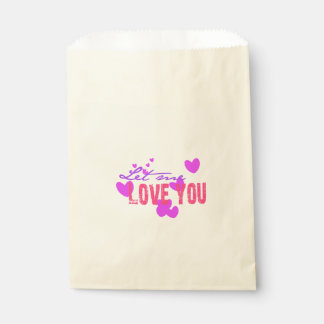 let me love you beautiful hearts favour bags