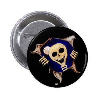 Let Me Out (Escaping Skeleton) 6 Cm Round Badge