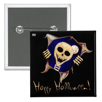 Let Me Out (Escaping Skeleton) Halloween Button