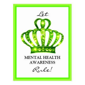 """Let Mental Health Rule"" postcards"