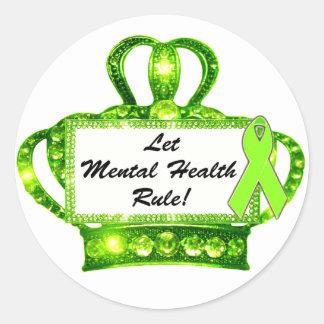 Let Mental Health Rule Tiara Stickers