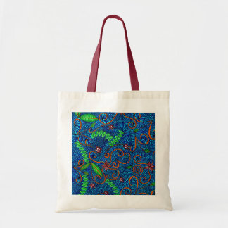 Let Nature Swirl Floral And Leaves Canvas Bag