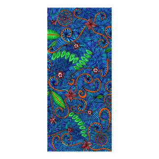 Let Nature Swirl Floral And Leaves Rack Card Design