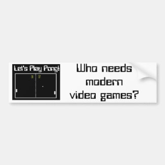 Let' Play Pong Video Game Car Bumper Sticker