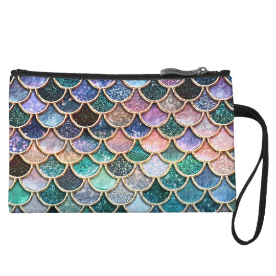 Let´s be mermaids- Mermaid Glitter Mermaid-scales Wristlet