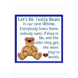 Let s Be Teddy Bears Postcards
