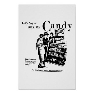 Let s Buy A Box Of Candy advertisement 1930 Print